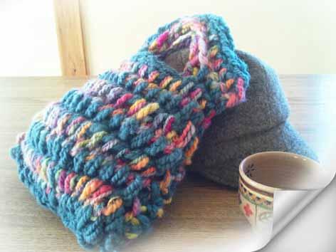 ゆび編みバッグ2