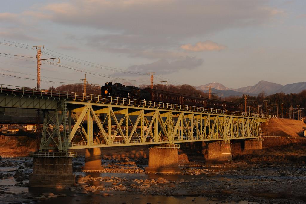 上越線 D51498 利根川第一橋梁