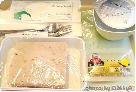 韓国旅行 飛行機 機内食