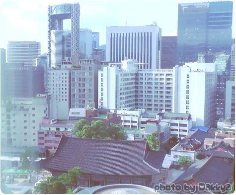 サマーセット・パレス・ソウル ホテルから観た景色