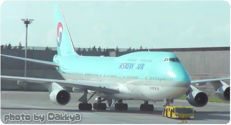 韓国 飛行機