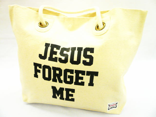INTERFACE JESUS FORGET ME TOTE BAG