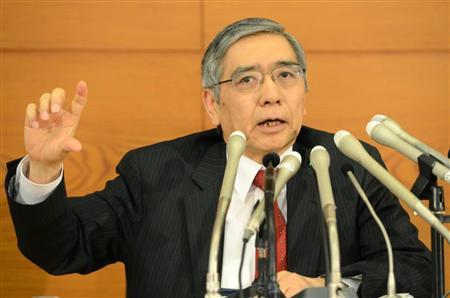 黒田日銀総裁が打ち出した強力な金融緩和策は、周辺国に押されていた日本経済を蘇らせるか