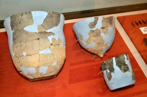 大正3遺跡から出土した土器片の復元土器=帯広百年記念館提供