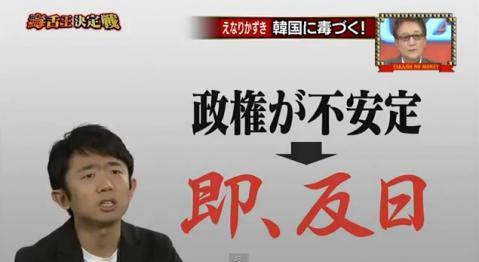 「もう政権が安定しなくなると即、矛先をこう日本に向けてきて」