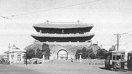 日本統治中の南大門