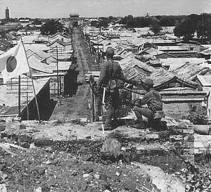 通州事件翌日の通州(1937年7月30日)