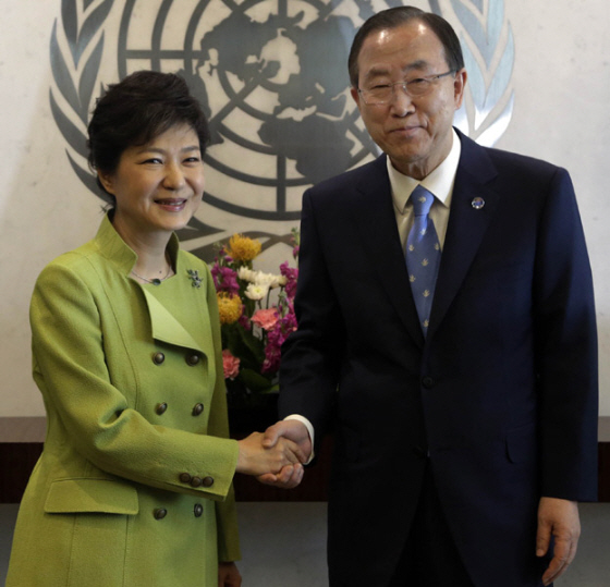 shake the United Nations with U.N. Secretary General Ban Ki-moon