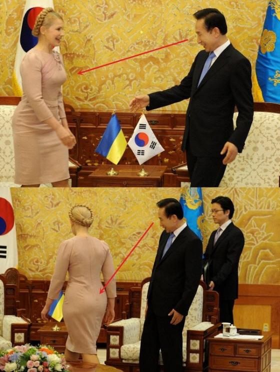 韓国では、前大統領の李明博も、外国の女性首脳にセクハラまがいの行動をするスケベ丸出し野郎だった。