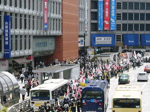 警察官激励!!外国人犯罪撲滅国民大行進20130526