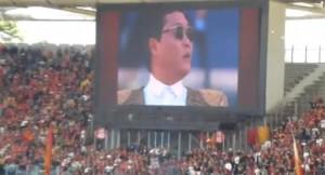 5月26日、コッパ・イタリア決勝戦の前座でPSYがカンナムスタイルを披露も、大ブーイング!