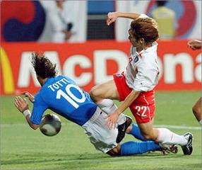 日韓ワールドカップでの韓国が行ったイタリア代表チームへの悪行