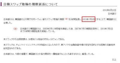 この期限が切れるのが2013年7月3日となっている。