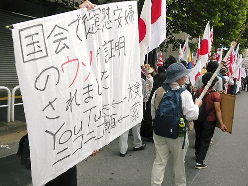 中山成彬議員の国会答弁を周知するデモ20130609