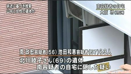 6月6日NHKお昼のニュース南正宏容疑者(56)池田和惠容疑者(57)ら3人