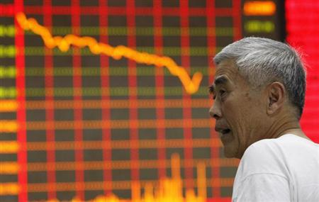 中国株が下げ幅拡大で4年半ぶり安値、金融株が下落