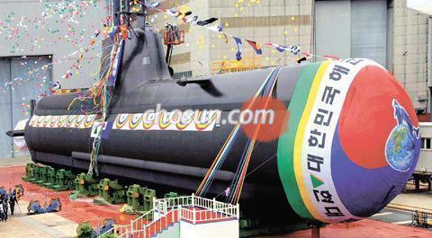韓国海軍では、2008年に完成した潜水艦の艦名に「安重根」.
