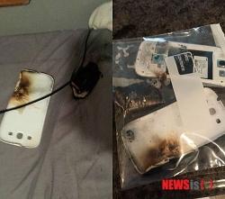 米国でサムスンのギャラクシー「S3」が爆発か ユーザーが証拠写真を掲載