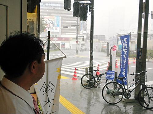 夕立鈴木信行(維新政党・新風)街宣20130707新宿東口、