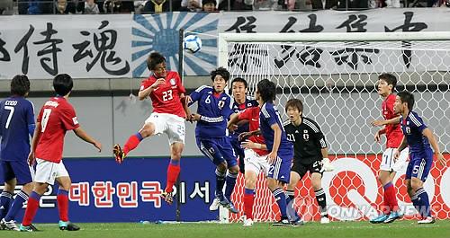 2010年10月12日、ソウルで行われたサッカー日韓戦の時には旭日旗があっても何の問題もなかった