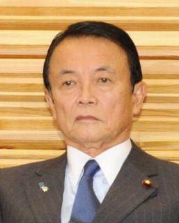 麻生太郎副総理兼財務相=藤井太郎撮影