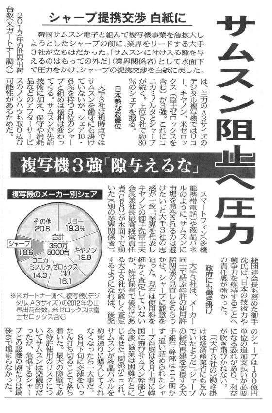 京都新聞経済面