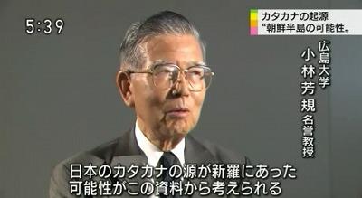 このため小林名誉教授は、「漢字を省略して作るカタカナの起源が当時の朝鮮半島にあった可能性が考えられる」と話しています。