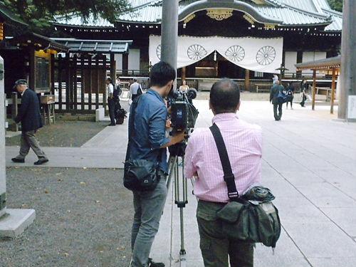 平成25年9月22日、靖国神社に放火目的で侵入!自称韓国人カン・ヨンミン(23)を逮捕!警視庁公安部・翌23日視察20130923NHK
