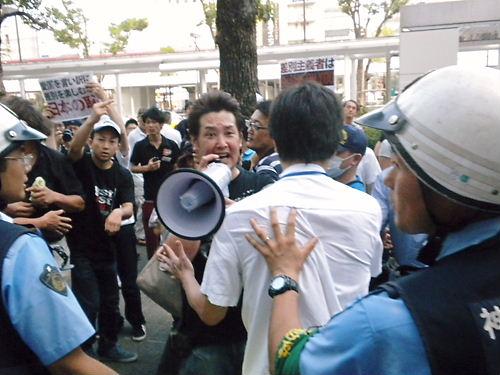 反日極左と不逞外国人から川崎を護るデモ(平成25年7月28日、神奈川県川崎市)