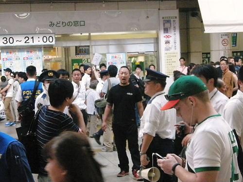 不逞外国人と反日極左から川崎を護るデモ(しばき隊による妨害活動)20131012