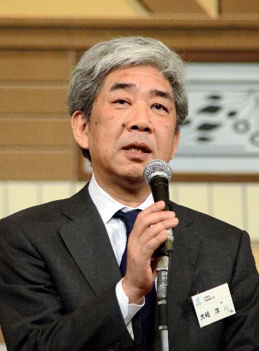 島田紳助の復帰希望を話す吉本興業の大崎洋社長=大阪市内