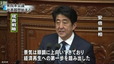 石原代表「現行の憲法に正当性あるのか?」→安倍首相「占領軍の影響下で策定されたが、有効」