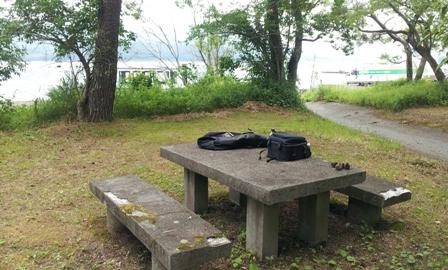 7月13日山中湖お昼寝ポイント