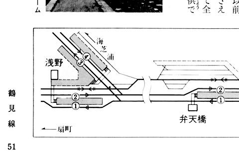 第8回鶴見線_浅野駅配線図