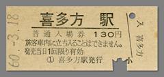 600318入場券_喜多方駅