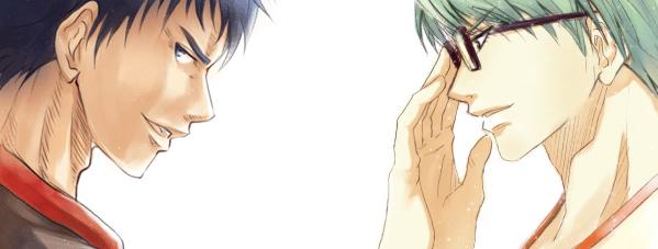 ハコさんが色塗りしてくださった青峰くん&緑間くんです!・:*:・゚☆d(≧∀≦)b゚+.゚!