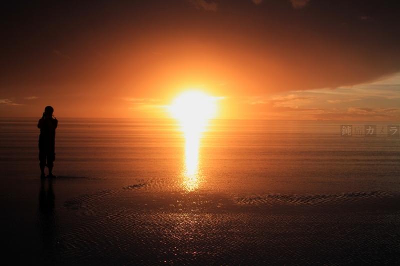 ウユニの夕焼け1