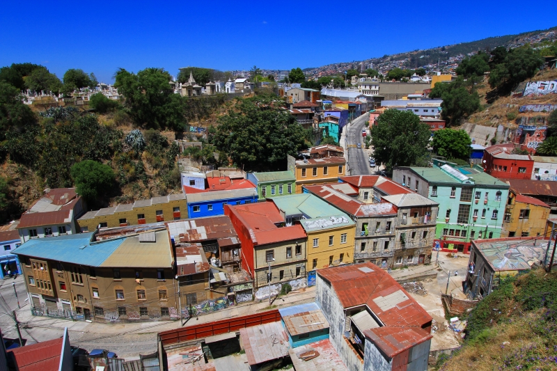 バルパライソ美しい街1