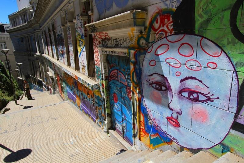 バルパライソの壁画1