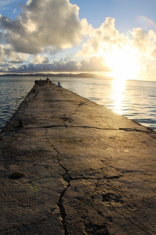 竹富島の夕日
