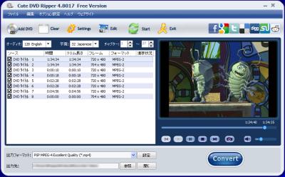 Cute DVD Ripper スクリーンショット
