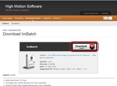 ImBatch ダウンロードページ