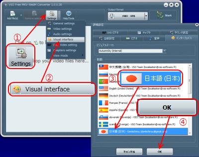VSO Free MKV-WebM Converter 言語設定