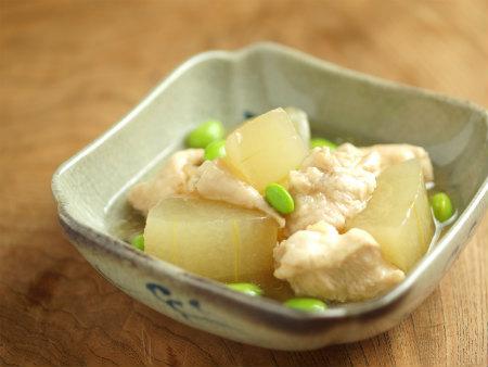 走波焼鶏と冬瓜の煮物y13