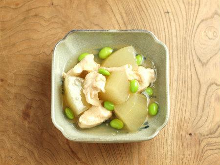 走波焼鶏と冬瓜の煮物y15