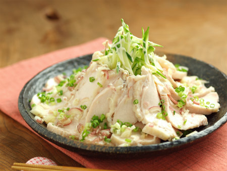 炊飯器蒸し鶏22