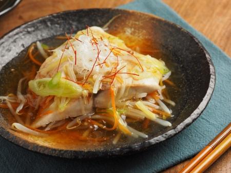 白身魚のあんかけフライパン蒸17