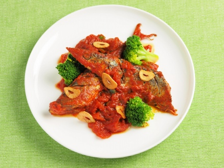 さんまのガーリックトマト煮16 (2)