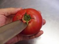 トマトとほうれん草の卵炒め21