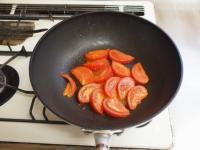 トマトとほうれん草の卵炒め38